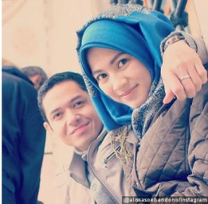 Alyssa Soebandono memakai hijab setelah menikah 2