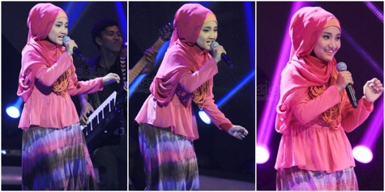 hijab cantik ala Fatin Shidqia 2