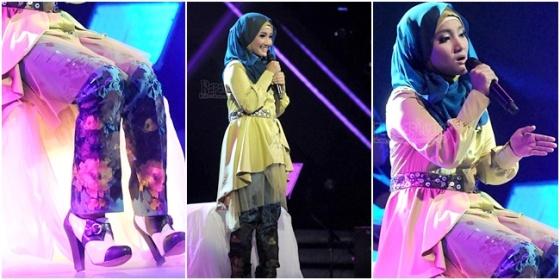 hijab cantik ala Fatin Shidqia 4