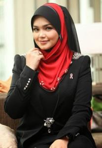 Hijab  Cantik ala Siti Nurhaliza 3