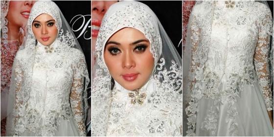 Hijab cantik ala Syahrini 2