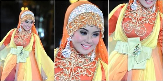 Hijab cantik ala Syahrini 4