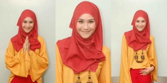 Hijab cantik ala Zaskia Adya Mecca